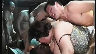 Big mature group orgy