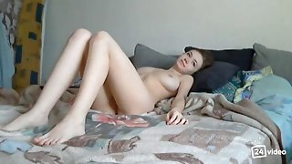 The big Breasted 19yo Russian queen anal in bed