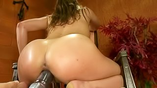 Barely legal Ashlynn Leigh goes crazy about sex with fucking machines and cant get enough. She vibrates her snatch and then takes robotic dildo deep in her soaking wet hole