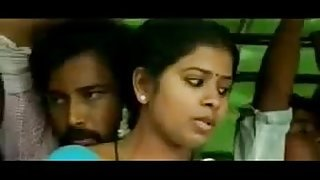 Romance in bus aunty seducing unknown very hot