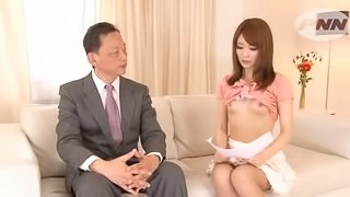 Japanese Reporter Giving The News With a Cock in Her Mouth and Pussy