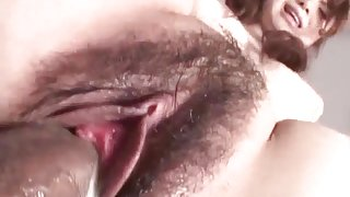Jun Mise gets a big dick to enlarge her wet bush