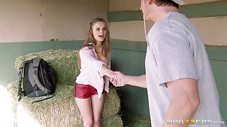 Young Farmer's Daughter Gets Something To Play With