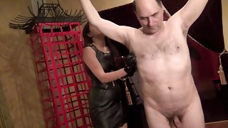 Goddess Angelina stripped  whipped and ripped part 2
