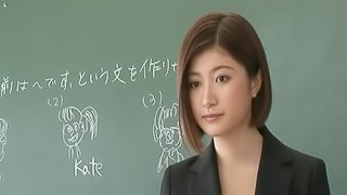 Short haired Japanese teacher getting fingered then drilled hardcore