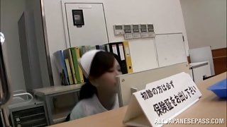 Anna Noma horny Asian nurse masturbates and gets licked
