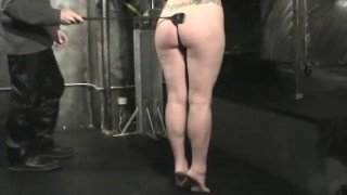 Naked Slave Gets Flogged and Cropped