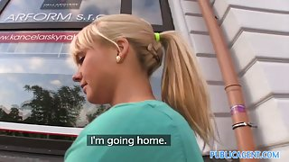 PublicAgent HD Delightsome Blond Beauty takes my large ding-dong